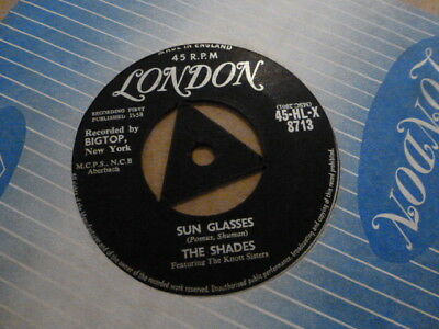 The Shades Sun Glasses 1958 London Tri 45-Hl-X 8713  Excellent + Very Rare