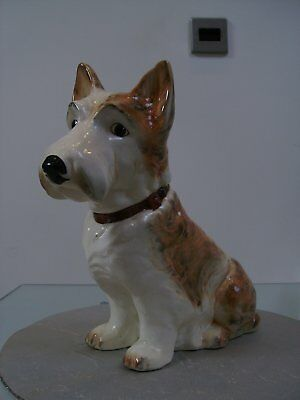 Large Slyvac Pottery Scottie Dog