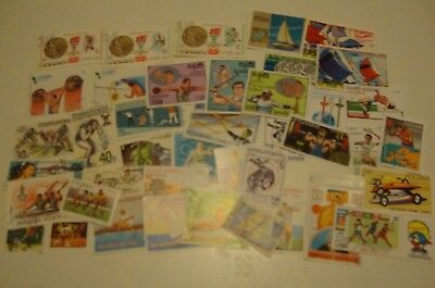 Small Collection of 40 Worldwide Thematic Stamps - Sports, Used,