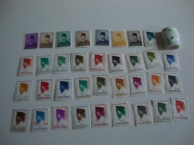 35 Indonesia Postage Stamps, Mostly Unused, + 50 Mint Rp1 Stamps - See Listing,