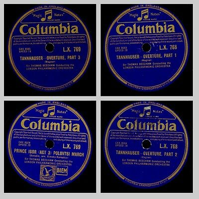 THOMAS BEECHAM & LONDON PHILH.O.  Wagner: Tannhäuser Ouvertüre; 2 Platten  GS398