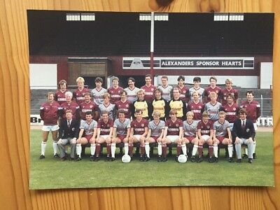 Hearts FC: Colour Squad Photo: 1983/84