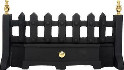 Black and Brass Fret 16 or 18 Inch Solid Fuel Fret Gas Fret Fireplace Fret