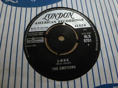 The Emotions L.o.v.e / A Million Reasons  1963 London Hlr 9701  Very Rare
