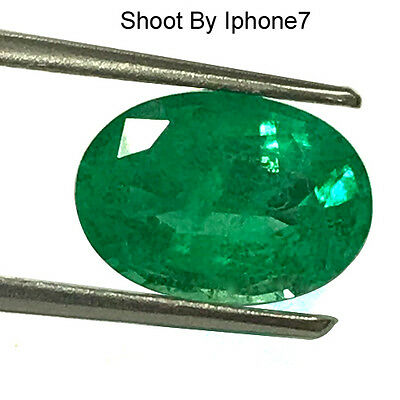 3.75 Cts Natural Top Rich Green Amazing Fine Emerald Oval Cut Untreated Colombia