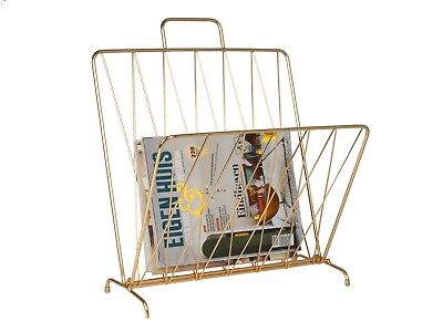Diamond Raster Magazine Rack - Gold