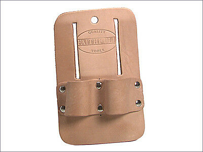 Faithfull Scaffold Spanner Holder Double Loop Frog Leather with Belt Loops sshd