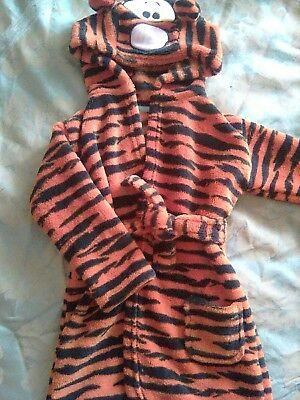 baby tigger hooded dressing gown 12-18 month disney at george excellent...