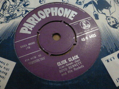 Boyd Bennett Click Clack / Move 1958 Parlophone  45-R 4423 Very Rare Very Nice