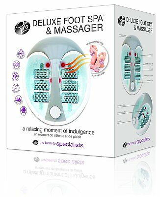 Rio Deluxe Foot Bath Spa Roller Massager Hydro Jets Vibration Massage Aroma Heat