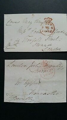 1830 and 1832.Two Free Franks fronts