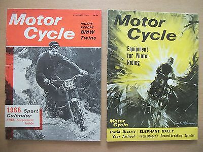 """""""motor Cycle"""" Mags  6 & 13 Jan 1966 - Bmw Twins - Velocette Singles"""