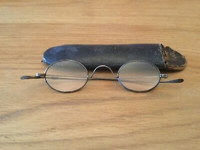 Antique Steel Victorian Spectacles and Case