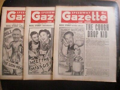 1951 Collection (7) Of 3  Of The  Speedway Gazette And Echo  Magazine