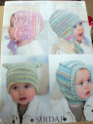 Original A4  Sirdar Snuggly Double Knitting  Baby's/child's Hats - 1257