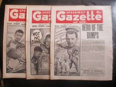 1951 Collection (8) Of 3  Of The  Speedway Gazette And Echo  Magazine