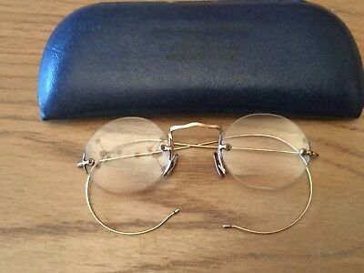 Antique Gold Filled Clamp On Spectacles