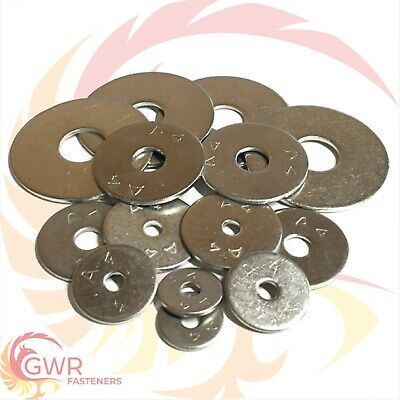 M6 x 20mm 25mm 30mm 35mm 40mm OD PENNY REPAIR WASHERS A4 Stainless Steel Marine