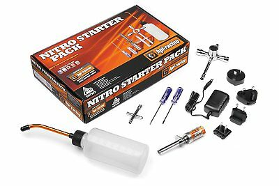 HPI Nitro Starter Pack Kit w/ Glow Plug Igniter, Charger, Fuel Bottle and Tools