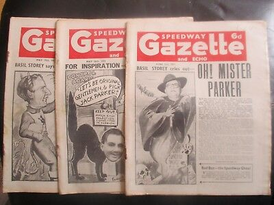 1951 Collection (9) Of 3  Of The  Speedway Gazette And Echo  Magazine
