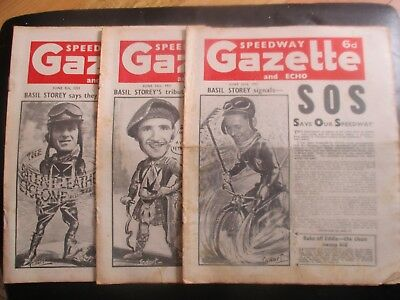 1951 Collection (10) Of 3  Of The  Speedway Gazette And Echo  Magazine