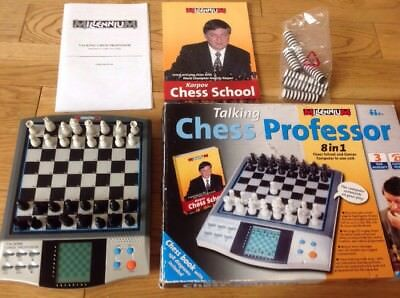 Electronic Millennium Professor Chess School Learn And Play With Book