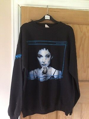 madonna girlie show sweatshirt jumper sweater size large 48 very rare