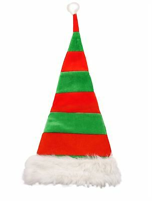 Christmas Elf Striped Hat Santa Claus Fancy Dress Party Adult Kids Accessory