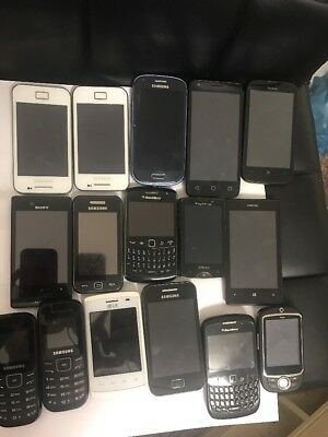 job lot 16 pcs mobile phones untested spares repairs All faulty Shop Returns
