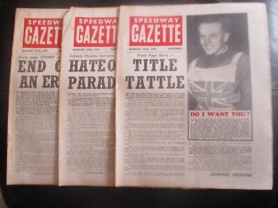 1951 Collection (13) Of 3  Of The  Speedway Gazette  Magazine