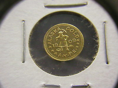 1909 Wa 1/2 Dwt Gold Alaska-Yukon-Pacific Expo Token: Hart's Coins Of The West