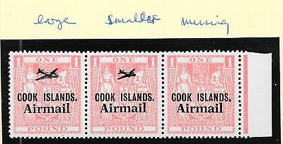 Cook Islands stamps 1966 1 Pound Airmail strip of 3 MNH VF HIGH VALUE!
