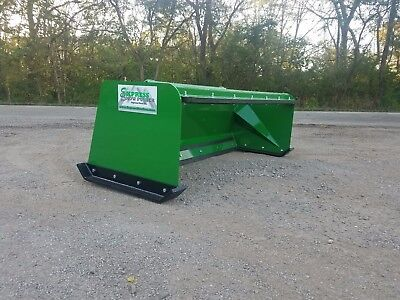 7' Low Pro Pullback John Deere quick attach snow pusher box FREE SHIPPING