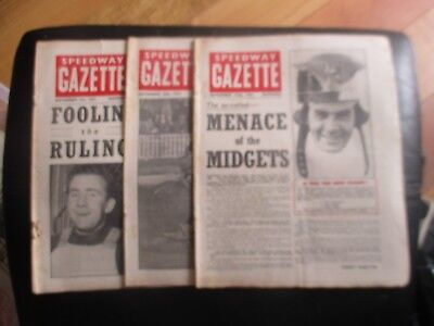 1951 Collection (14) Of 3  Of The  Speedway Gazette  Magazine