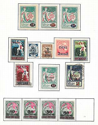 Latvia stamps 1920 Collection of 15 stamps ATTRACTIVE!