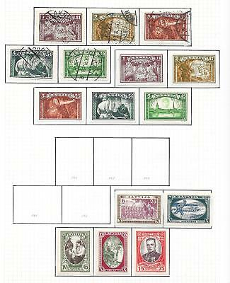 Latvia stamps 1932 Collection of 15 stamps ATTRACTIVE!