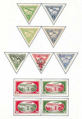 Latvia stamps 1921 Collection of 11 stamps ATTRACTIVE!