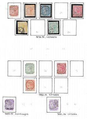 Mauritius stamps 1878 Collection of 11 CLASSIC stamps HIGH VALUE!