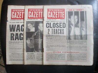 1951 Collection (15) Of 3  Of The  Speedway Gazette  Magazine