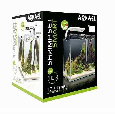 Shrimp Set Smart 2 Led 30 White Aquael Caridine Pesci Piante Acquario Completo