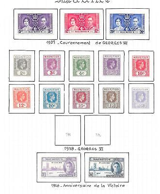 Mauritius stamps 1937 Collection of 15 stamps HIGH VALUE!