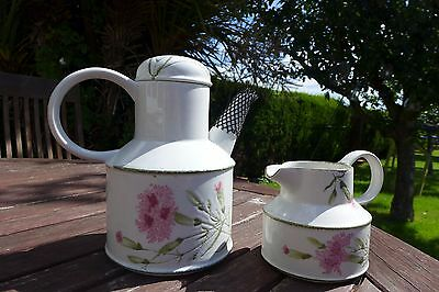 Midwinter Creation - Invitation (pink Carnation) Coffee or Tea pot and Jug