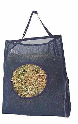 Horse Mesh Hay Bag~Black~Holds 2 Biscuits Easily~Adjustable Hanger ***NEW