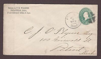 mjstampshobby 1891 US Vintage Cover Used (Lot4853)
