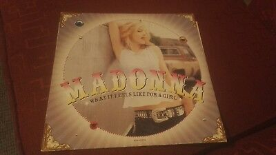 """Madonna What It Feels Like For A Girl 12"""" Vinyl Record. 2001"""