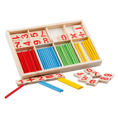Educational Building Blocks Montessori Counting Sticks Toy Mathematical Game