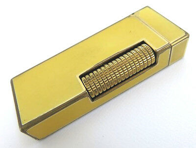 Dunhill Vintage Rollagas Lighter Yellow Lacquer & Gold [607]