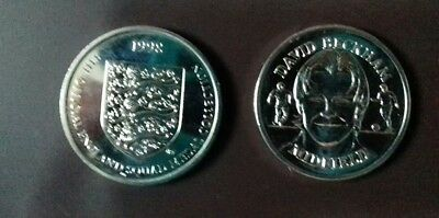 David Beckham Midfield. England Squad 1998. collectable . Coin/medal