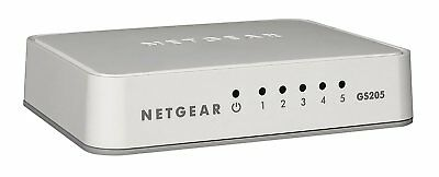 Netgear 5 Port Gigabit Desktop Fast Ethernet Network Switch 1GB 10/100/1000 Mbps