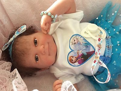 Beautiful Reborn Berenguer Baby Doll Rooted Hair Frozen Inspired  Bargain